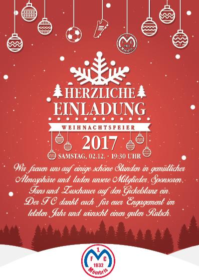 Eintracht Frankfurt Weihnachtsfeier.Alle Jahre Wieder 1 Fc Mömbris 1932 E V
