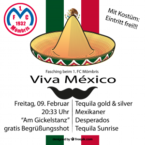 Plakat Fassching 2018 Mexiko_final